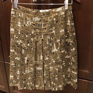Moschino Cheap and Chic Pleated Silk Skirt